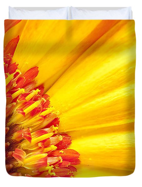 Duvet Cover featuring the photograph Little Bit Of Sunshine by Eunice Gibb