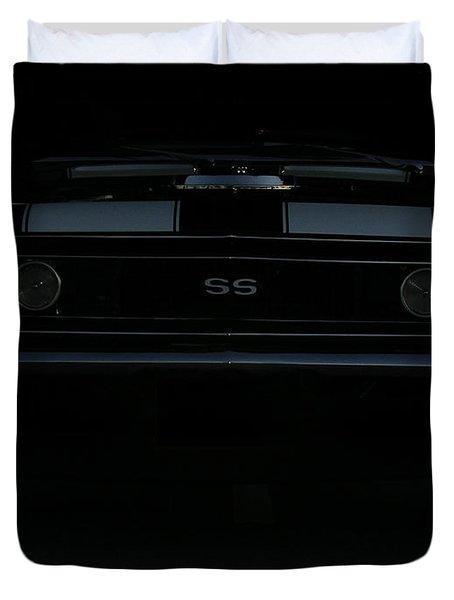 Little Black Camaro Duvet Cover