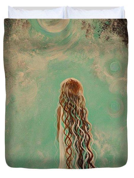 Little Galaxie One Duvet Cover by Leslie Allen