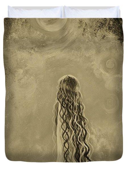 Little Galaxie Too Duvet Cover by Leslie Allen