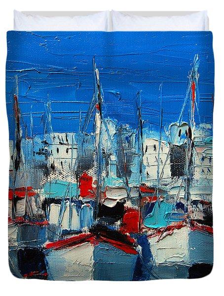 Little Harbor Duvet Cover by Mona Edulesco