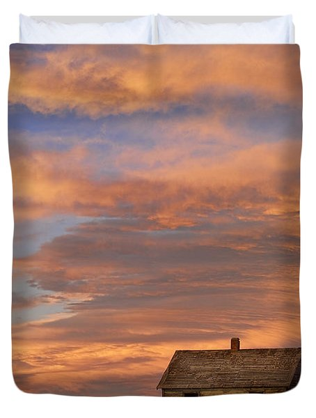 Little House On The Colorado Prairie Duvet Cover by James BO  Insogna