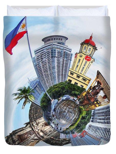 Little Planet - Manila Duvet Cover by Yhun Suarez