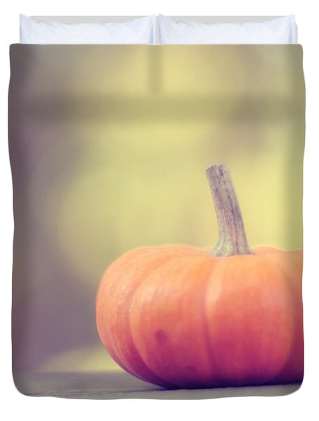 Little Pumpkin Duvet Cover by Amy Tyler