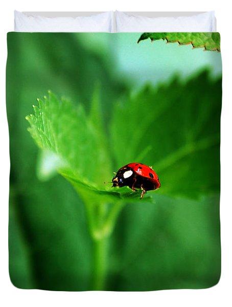 Little Red Lady Duvet Cover