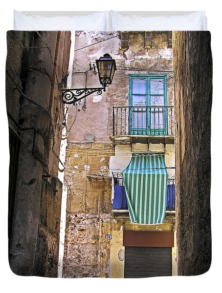Little Street Of Palermo Duvet Cover