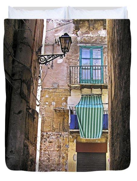 Little Street Of Palermo Duvet Cover