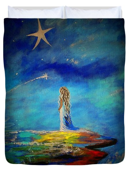 Little Wishes Too Duvet Cover by Leslie Allen