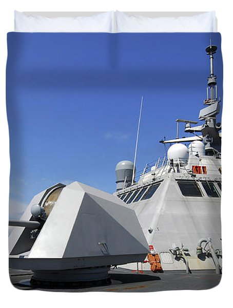 Littoral Combat Ship Uss Freedom Duvet Cover by Stocktrek Images