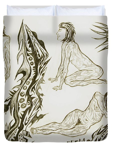 Live Nude 17 Female Duvet Cover