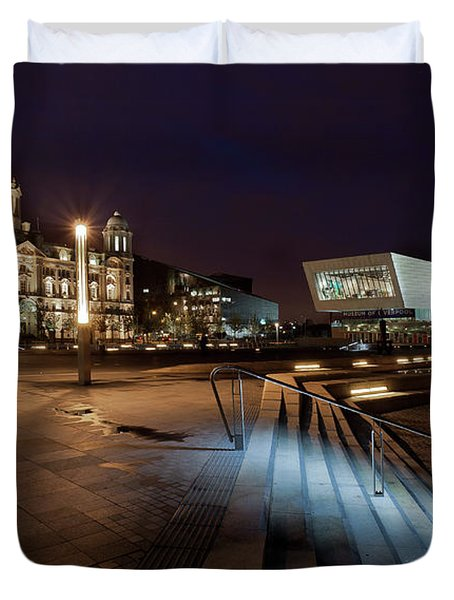 Liverpool - The Old And The New  Duvet Cover