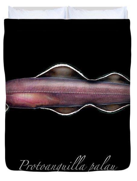 Living Fossil Eel - Protoanguilla Palau Duvet Cover