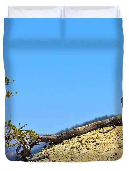 Living On The Edge Duvet Cover by Greg Norrell