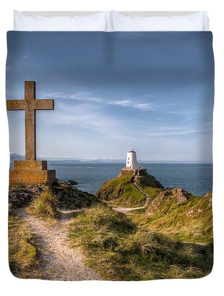 Llanddwyn Island Duvet Cover by Adrian Evans