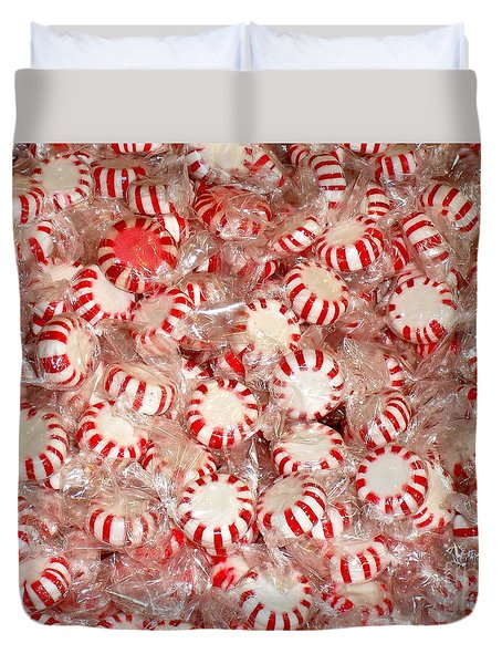 Duvet Cover featuring the photograph Fun  Mints by Beth Saffer
