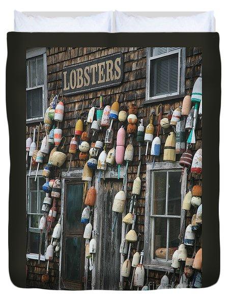 Lobster Buoys Duvet Cover