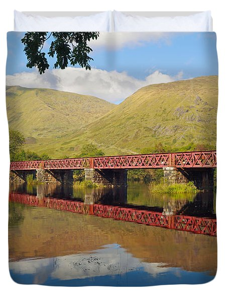 Loch Awe Railway Bridge Duvet Cover