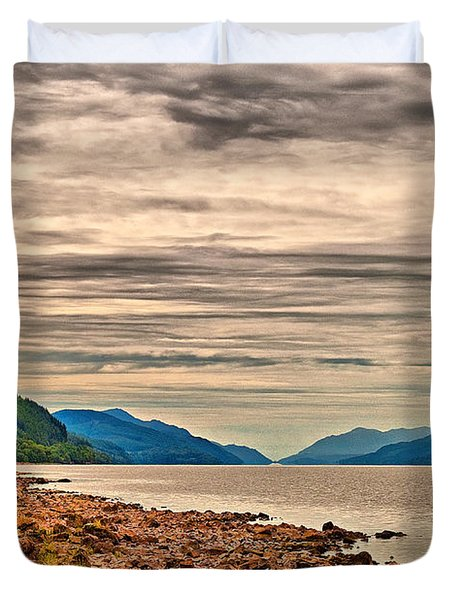 Loch Ness View Duvet Cover