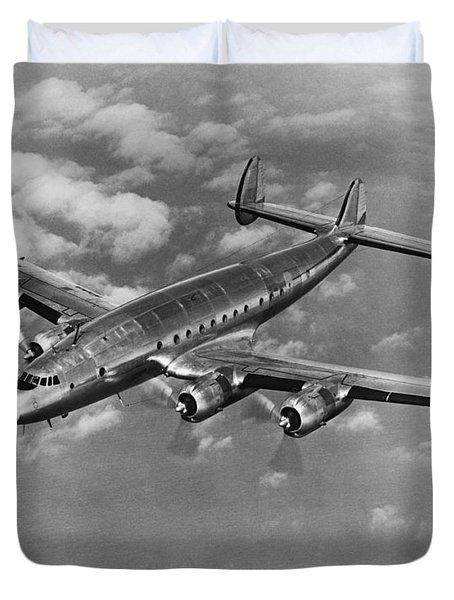 Lockheed Constellation Duvet Cover by Photo Researchers