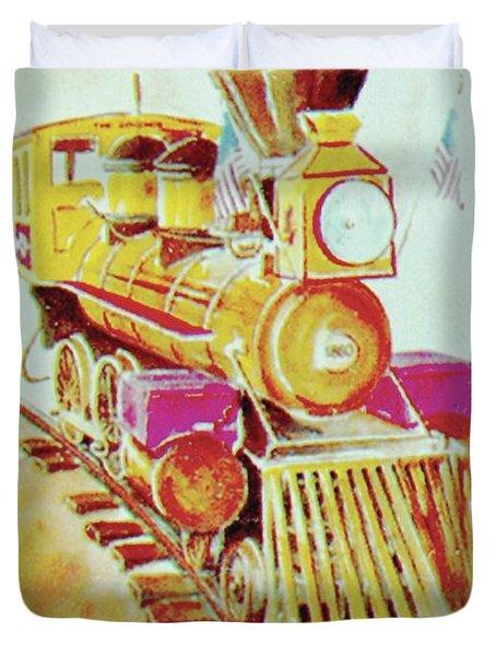 Locomotive Duvet Cover