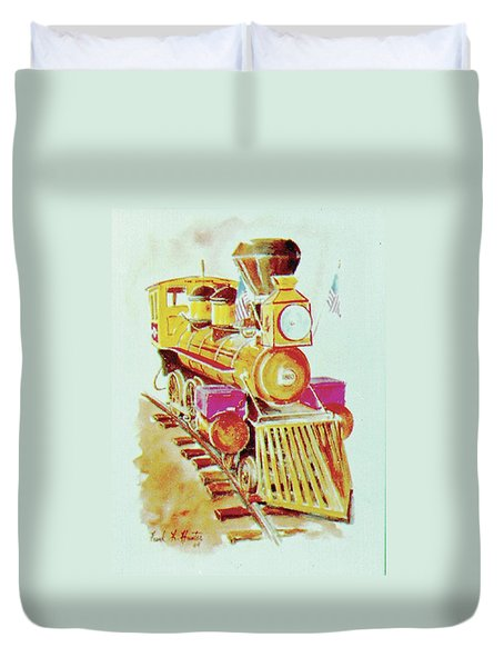 Locomotive Duvet Cover by Frank Hunter