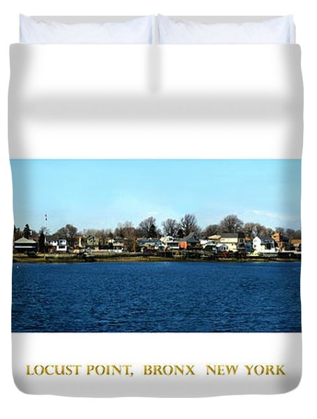 Locust Point Bronx New York Duvet Cover