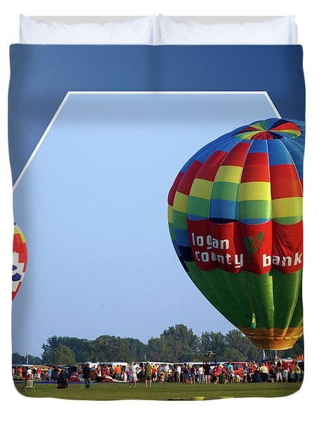 Logan County Bank Balloon 05 Duvet Cover by Thomas Woolworth