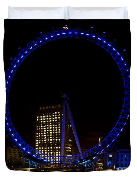 London Eye And River Thames View Duvet Cover