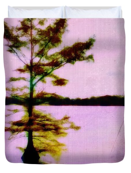 Lone Cypress Duvet Cover by Judi Bagwell