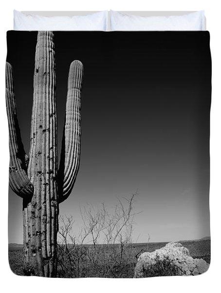 Lone Saguaro Duvet Cover