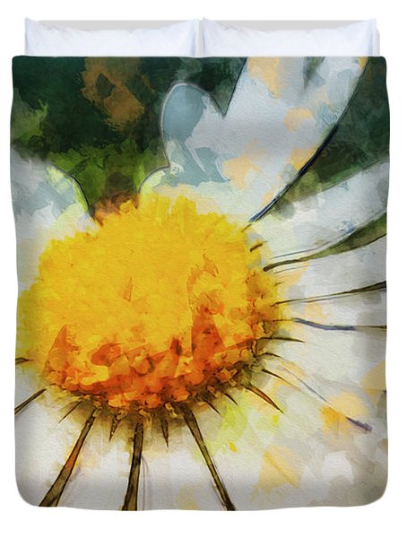 Lonely Daisy Duvet Cover
