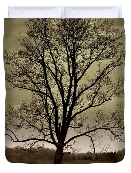 Lonely Tree Duvet Cover by Marty Koch