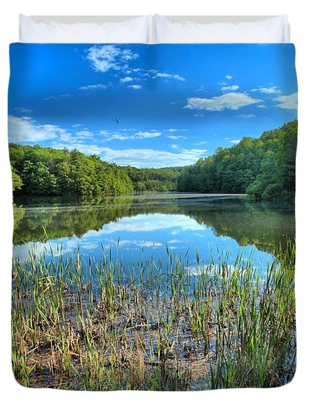 Long Branch Marsh Duvet Cover by Adam Jewell