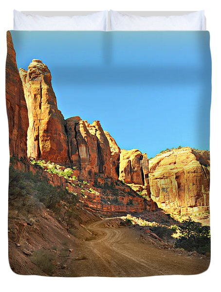 Long Canyon 1 Duvet Cover by Marty Koch