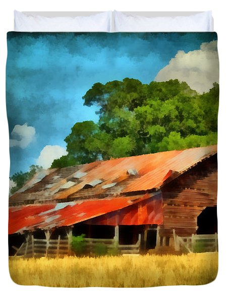 Long Road Barn Duvet Cover by Lynne Jenkins