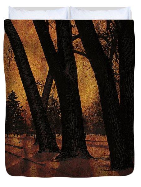 Long Shadows Duvet Cover