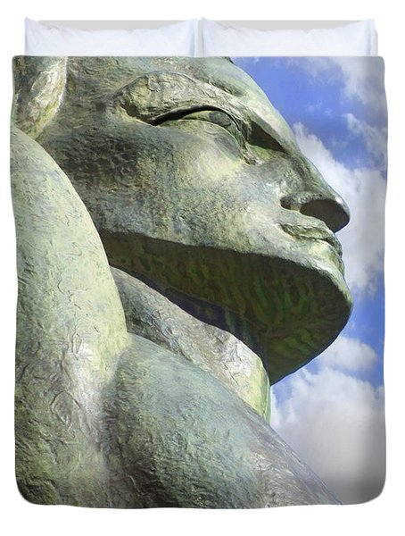 Look To The Sky - R Duvet Cover by Mike McGlothlen