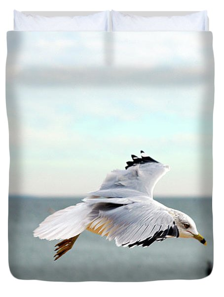 Duvet Cover featuring the photograph Looking For Dinner by Clayton Bruster