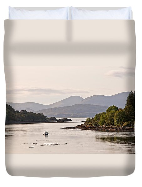 Looking To The Isle Of Mull Duvet Cover