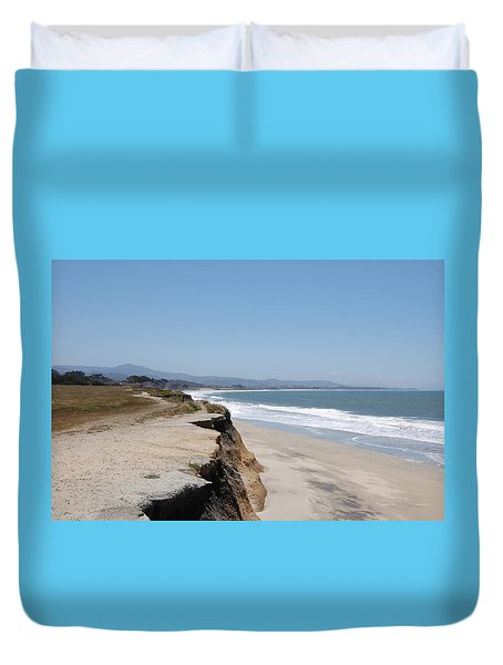 Looking Toward Half Moon Bay Duvet Cover by Carolyn Donnell