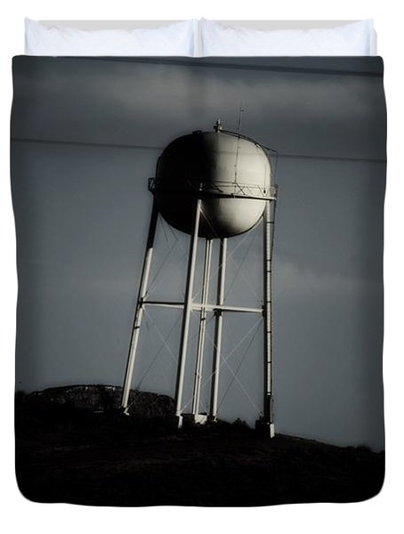 Duvet Cover featuring the photograph Lopsided Tower by Jessica Shelton