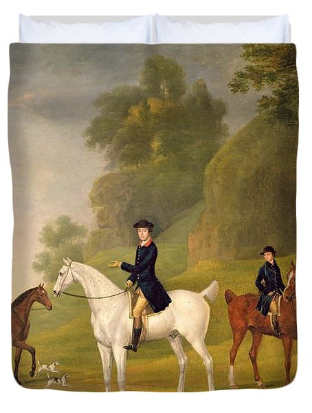 Lord Bulkeley And His Harriers Duvet Cover by Francis Sartorius