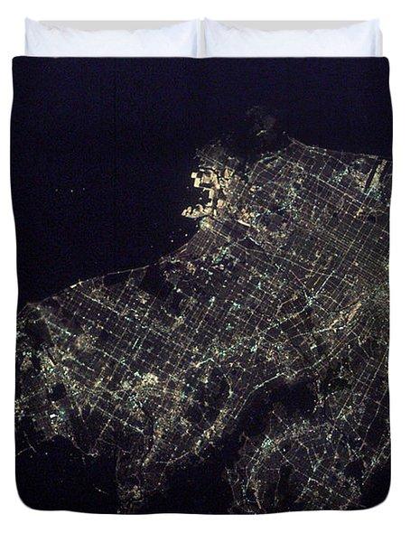 Los Angeles At Night Duvet Cover