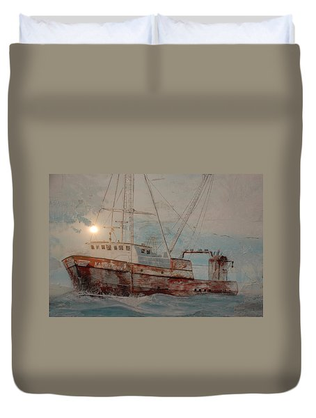 Lost At Sea Duvet Cover