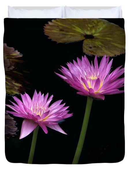 Lotus Water Lilies Duvet Cover