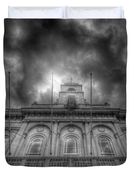 Loughborough Town Hall Duvet Cover by Yhun Suarez