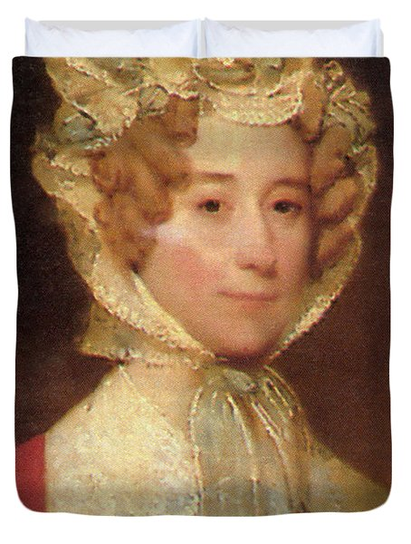 Louisa Adams Duvet Cover by Photo Researchers