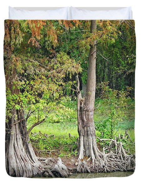 Duvet Cover featuring the photograph Louisiana Cypress by Lizi Beard-Ward