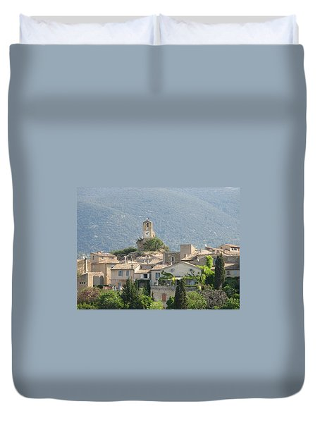 Duvet Cover featuring the photograph Lourmarin In Provence by Carla Parris