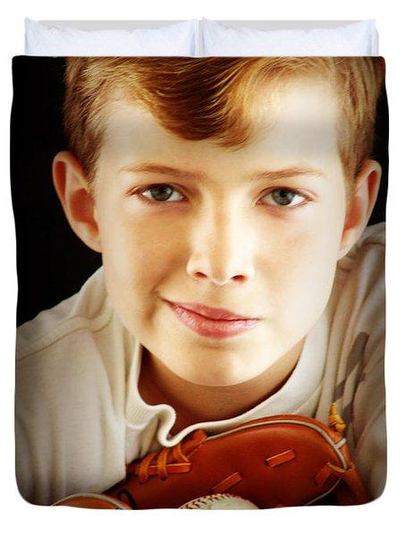 Love Baseball Duvet Cover by Lj Lambert